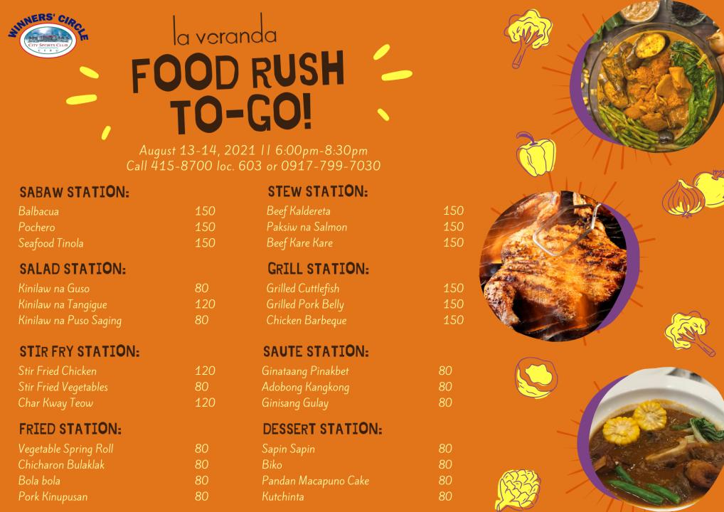 Aug 13-14 Food Rush