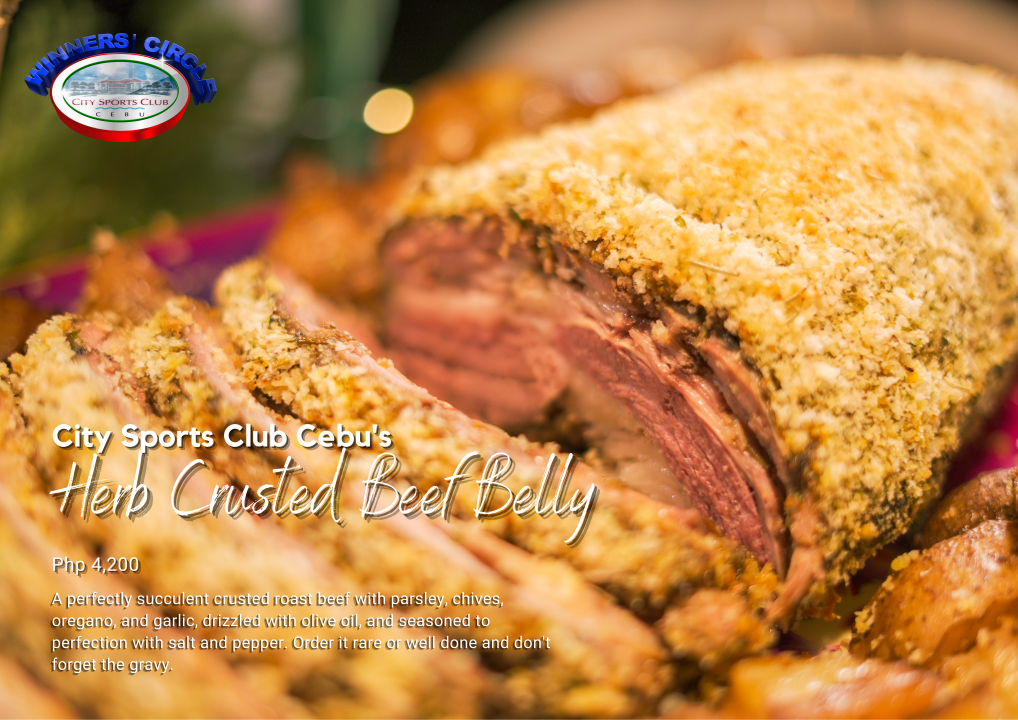 Herb Crusted Beef Belly